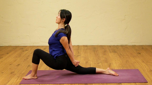 Video thumbnail for: Chest opening Vinyasa sequence
