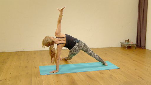 Video thumbnail for: Building strength for leg through needle pose