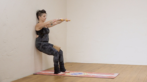 Video thumbnail for: Yoga with weights at the wall