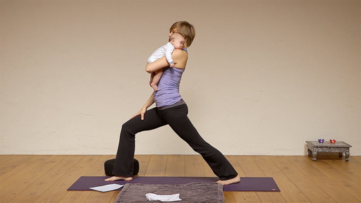 Video thumbnail for: Doing yoga while rocking your baby