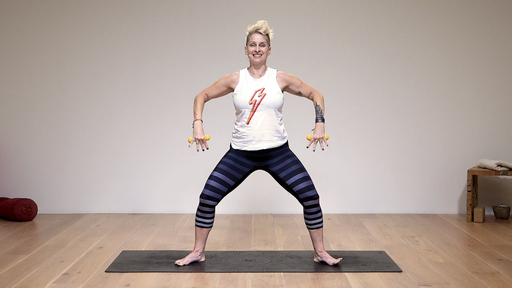 Video thumbnail for: Yoga with weights for shoulder health
