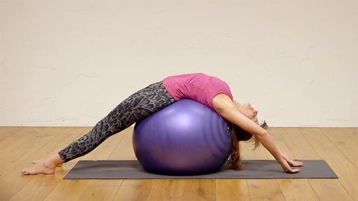 Video thumbnail for: Yoga on the ball, an office treat