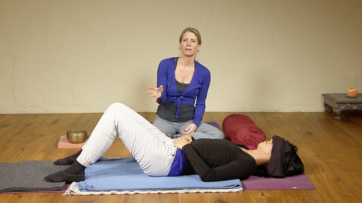 Video thumbnail for: Restorative yoga for anxiety