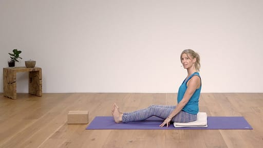 Video thumbnail for: Yoga for Beginners Course Class 7 - Seated poses