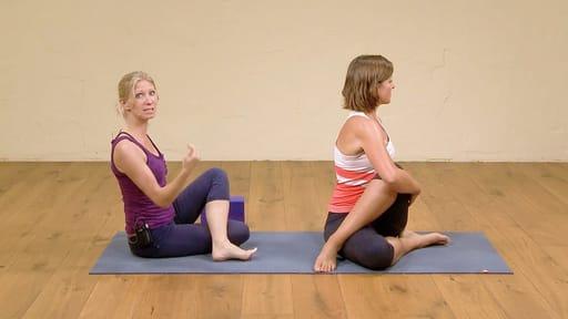 Video thumbnail for: Hatha yoga for beginners part 5: full yoga class