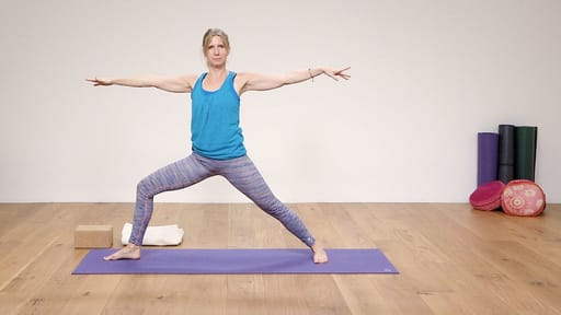 Video thumbnail for: Yoga for Beginners Course Class 6 - Standing poses flow