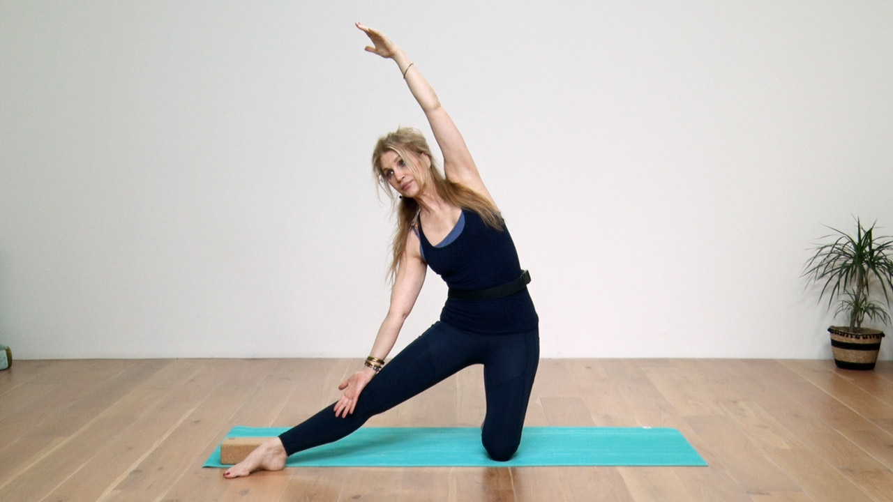 Stretch your side body in Gate pose