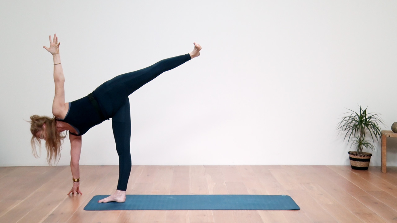 Flow with Half Moon pose