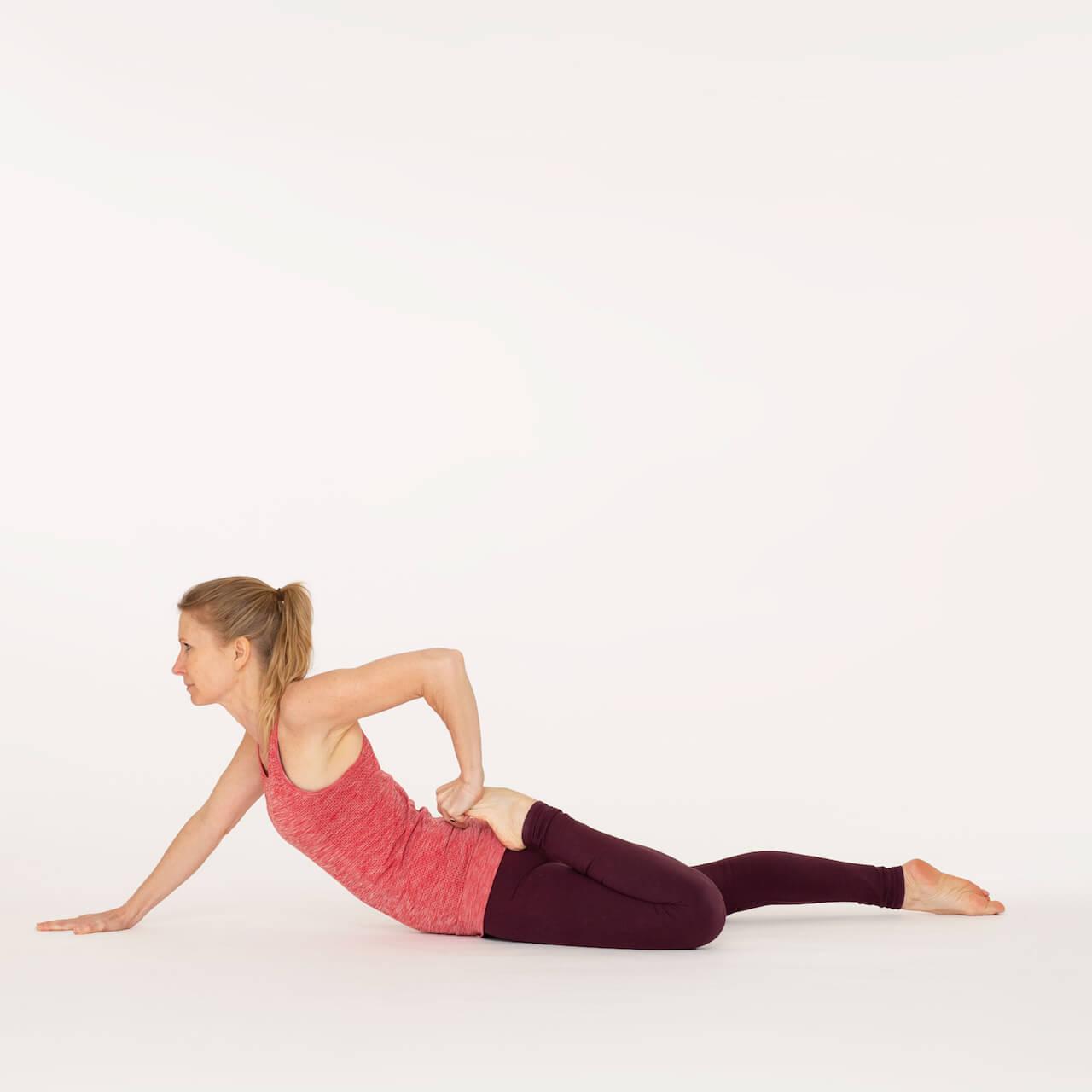 Half Frog Pose-Ardha Bhekasana  Ekhart Yoga